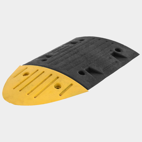 Rubber Speed Humps Black and Yellow | Venture Plastics