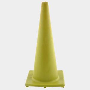 Yellow 1.8m Safety Cones | Plastics Manufacturing | Venture Plastics
